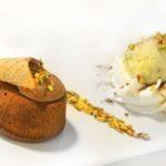 Soufflè al cioccolato bianco e pistacchio